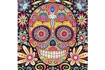 (Happy Skull) - 5D Artist Painting Kit - DIY Cross Stitch Kit (Size:40x40 cm) Great Designs, Diamond Embroidery Kit for Art & Craft, Living Room Wall Decor, Home Decor (Happy Skull)