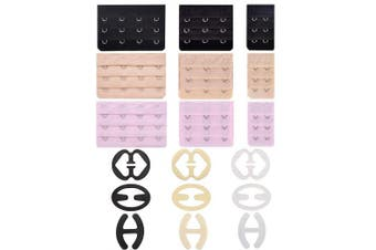 9Pcs Bra Strap Clips and 9Pcs Bra Extender 2 Hooks/3 Hooks/4 Hooks, No Longer Feel Bad at Too-Tight Strap and Racerback Conceal Straps Cleavage Control