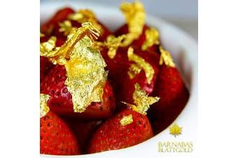 (Flakes - 150mg) - Edible Genuine Gold Leaf Flakes - by Barnabas Blattgold - 150mg Jar