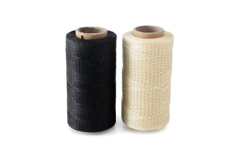 (03) - 2pcs Crafts 0.8mm 150D Leather Sewing Hand Stitching Jewellery Craft Waxed Thread String Cord
