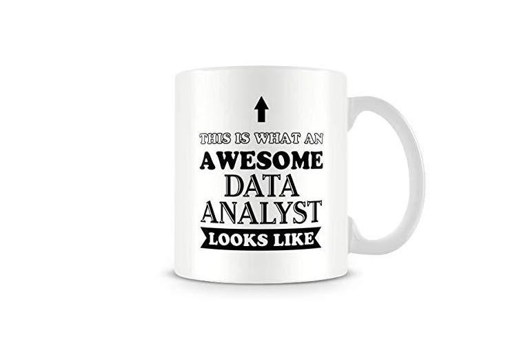 Funny Mug - Awesome Data Analyst - Great Gift/Present Idea