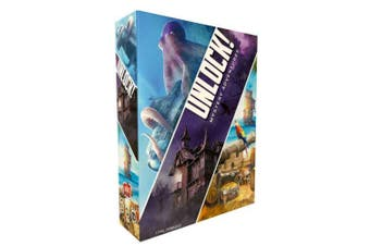Asmodee Italia Unlock Mystery Adventures Table Game, Blue, SCUNL02IT