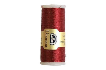 DMC Diamant Metallic Needlework Thread, 38.2-Yard, Red Ruby