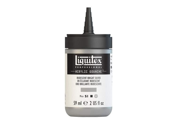 (Iridescent Bright Silver) - Liquitex 2059236 Acrylic Gouache, 60ml, Iridescent Bright Silver