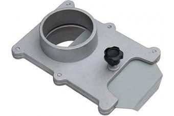 (6.4cm , ALUMINUM) - POWERTEC 70134 6.4cm Aluminium Blast Gate for Vacuum/Dust Collector