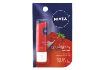 Nivea Lip Care Strawberry 50ml Carded (6 Pieces)