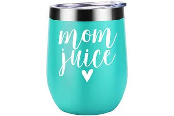 (Mint) - Mom Juice - Mothers Day Gifts for Mom from Daughter, Son - Funny Wife, Mom Gifts - Best Mom Gifts Ideas for Mom Birthday, Any Mom, Mom to be, New Mom, Pregnant Mom, Her - Coolife Wine Tumbler Mom Mug