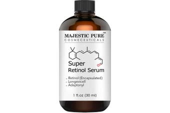 Majestic Pure Super Retinol Serum - Age Defying Face Serum, Diminishes the Appearance of Fine Lines and Wrinkles, for Youthful Radiant Looking Skin - 30ml