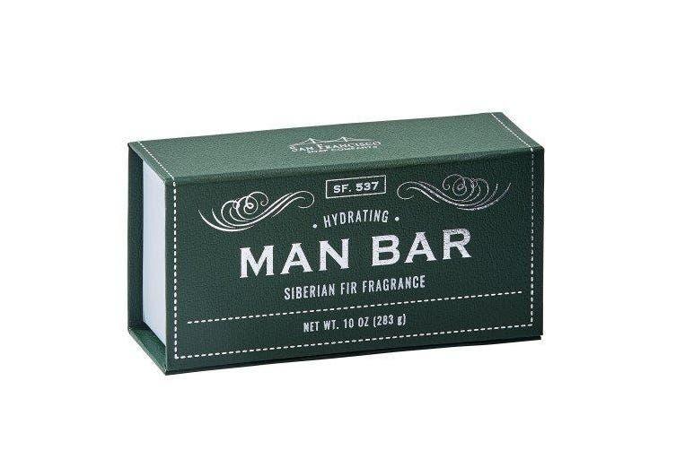 (300ml, Siberian Fir) - San Francisco Soap Company Hydrating Man Bar, Siberian Fir, 300ml