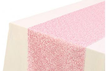 (Baby Pink) - Christmas Concepts® Sequin Table Runner - 33cm x 150cm - Wedding/Party Decoration - Luxury Wedding Decorations (Baby Pink)