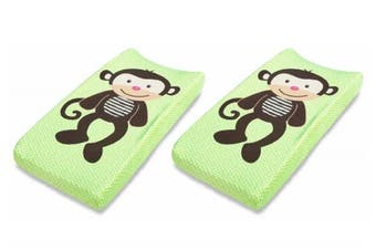 (Change Pad Cover, Monkey) - Summer Infant Ultra Plush Character Changing Pad Cover, Monkey