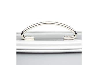 (French Grey) - KitchenCraft Living Nostalgia 3-Tier Metal Cake Storage Tin, 22 x 27 cm (8.5 x 10.5 Inches) - French Grey