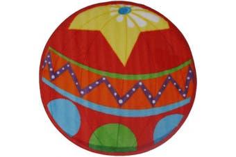 (2-footx0.9m, Multi) - Fun Rugs Fun Time Shape FTS-137 Circus Ball Area Rug - Multicolor