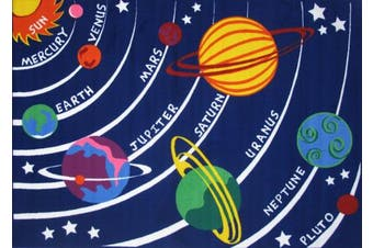 (48cm  x 70cm ) - LA Rug FT-170 1929 Fun Time Collection - Solar System Rug - 19 x 29 Inch