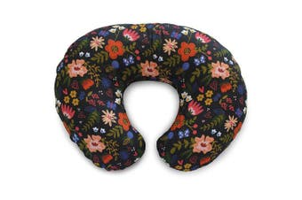Boppy Boppy Cotton Blend Nursing Pillow and Positioner Slipcover, Black Floral