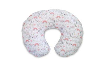 Boppy Boppy Cotton Blend Nursing Pillow and Positioner Slipcover, Pink Unicorns