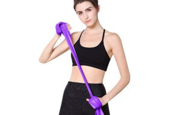 (Purple) - MOKOSS Resistance Bands, Professional Exercise Bands Long Natural Latex Elastic Bands, Perfect for Strength Training, Physical Therapy, Yoga, Pilates, Stretching