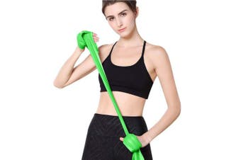 (Green) - MOKOSS Resistance Bands, Professional Exercise Bands Long Natural Latex Elastic Bands, Perfect for Strength Training, Physical Therapy, Yoga, Pilates, Stretching