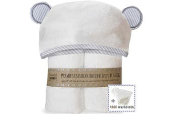 (Organic Towel Set) - Premium Hooded Baby Towel and Washcloth Set - Organic Soft Hooded Bath Towels with Ears for Babies, Toddlers | Large Baby Towel Perfect Baby Shower Gift for Boys and Girls by San Francisco Baby