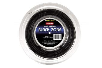 (17g Reel) - Tourna Black Zone Polyester Tennis String