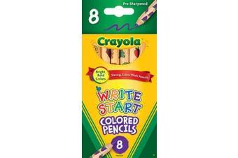 CRAYOLA 68-4108 8ct Write Start Coloured Pencils, Multi-Colour, 1.04 x 7.89 x 16.510000000000002 cm