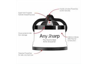(Black) - AnySharp ' Editions' World's Best Knife Sharpener, Black, with PowerGrip