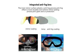 (A2-Yellow) - Premium Polarised Big Large Frame Swim Goggles, Swimming Goggles Anti Fog No Leaking with UV Protection and Clear Lens Wide-Vision for Men Women Adult Youth with Free Case,Nose Clip and Ear Plugs