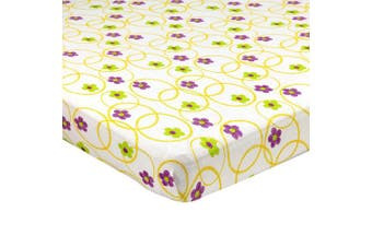 (60cm  x 100cm  (MINI CRIB), Multi Color Floral) - Abstract Fitted Crib Sheet for Mini and Portable Cribs - 60cm x 100cm - Ultra Soft, 100% Jersey Knit Cotton - Hypoallergenic Nursery Bedding - Floral Multi Colour