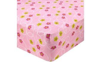 (70cm  x 130cm  (STANDARD CRIB), Floral Pink) - Abstract Fitted Crib Sheet for Standard and Full Size Cribs and Toddler Beds - 70cm x 130cm - Ultra Soft, 100% Jersey Knit Cotton - Hypoallergenic Nursery Bedding - Floral Pink