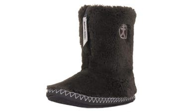 (5/6 UK, Charcoal) - Bedroom Athletics Women's Marilyn Slipper Boots