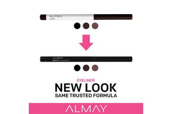 (Brown) - Almay Oil-Free Eyeliner Pencil, Brown, Ophthalmologist Tested, Hypoallergenic