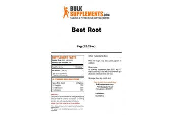 (1 Kilogramme (1kg) Powder) - Beet Root Powder by BulkSupplements | Total Health Athletic Aid (1 Kilogramme)