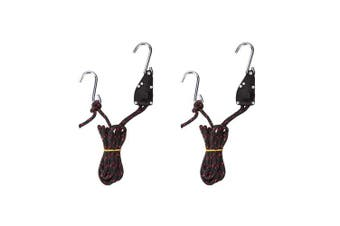 (Set of 2) - AA Products Ratchet Kayak and Canoe Bow and Stern Tie Down Straps Adjustable Rope Hanger