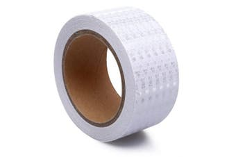 (5.1cm  x 9.1m, White) - 5.1cm X 9.1m Reflective Tape White Safety Warning Stickers - Reflector Tape Waterproof Outdoor