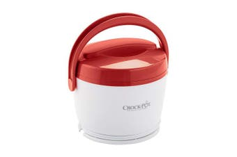 (Red) - Crock-Pot SCCPLC200-R 590ml Lunch Crock Food Warmer, Red