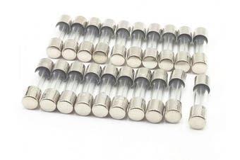 20Pcs 250V 500mA 0.5A Slow Blow Glass Fuses Tube 5mm x 20mm