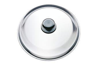 WMF Glass Lid, with Metal Knob, Stainless Steel, Transparent, 28 cm