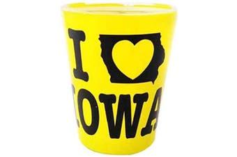 (Iowa) - Iowa Yellow Designed State Souvenir Shot Glass