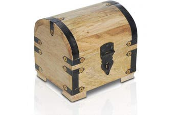 (Small Chest 5,5x4,3x4,7inch) - Brynnberg wooden pirate treasure chest   decorative storage box model 'Lady Juliet large'   Vintage decoration handmade  