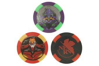 (Color) - EVA GOLF Evangelion Ball Markers Three Markers