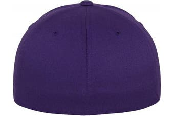 (XS, Violet - Violet) - Adult Flexfit Woolly Combed Cap