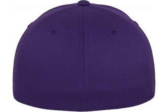 (XXL, Violet - Violet) - Adult Flexfit Woolly Combed Cap