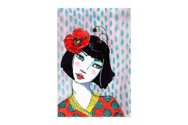 (Poppy Girl) - Jane Davenport Artomology Clear Stamps