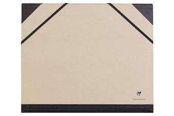 (26 x 33 cm, Art Folder, Elastic Straps, Brown) - Clairefontaine A4 Kraft Art Folder, Elastic Straps, Brown