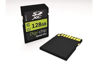 Digi Chip 128GB SDXC Class 10 Memory Card For Canon Powershot SX740 HS, Canon Powershot SX70 HS and Canon EOS R Digital Cameras and SLR
