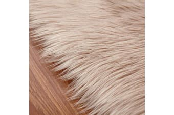 (Brown, 60 X 90 CM) - HEQUN Faux Fur Rug Soft Fluffy Rug, Shaggy Rugs Faux Sheepskin Rugs Floor Carpet for Bedrooms Living Room Kids Rooms Decor (Brown, 60×90)