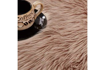 (Brown, 50 X 150 CM) - HEQUN Faux Fur Rug Soft Fluffy Rug, Shaggy Rugs Faux Sheepskin Rugs Floor Carpet for Bedrooms Living Room Kids Rooms Decor (Brown, 50 X 150 cm)