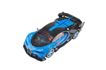 (Neo Blue) - Blue Block Factory BLUEBLOCK 1:14 Scale Remote Control RC Speedy European GT Series Style Sports Super Car Racer with Flashing Lights and Graphics, for Boys and Girls, Ages 3+