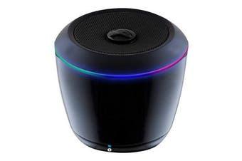 (Black) - iLive Portable Bluetooth Speaker with LEDs