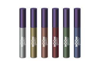 Cosmic Moon - Metallic Eye Liner - 10ml - For mesmerising metallic eye styles - Set of 6 colours - Includes: Silver, Gold, Rose Gold, Red, Green, Blue